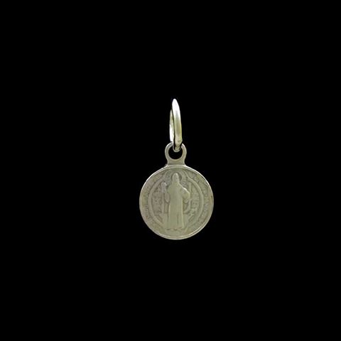 Imagem de Pingente de Prata 925 Pequena Medalha São Bento - 0304508