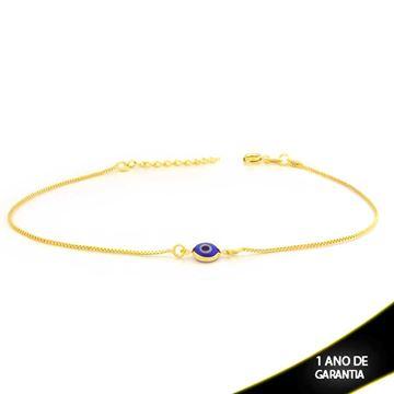 Imagem de Tornozeleira Olho Grego Azul Escuro 23cm Mais 4cm de Extensor - 0600669