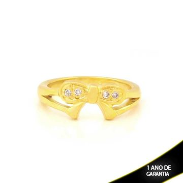 Imagem de Anel de Laço com Quatro Pedras de Zircônia - 0104006