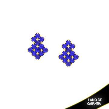 Imagem de Brinco com Pedras de Strass Azuis - 0209136