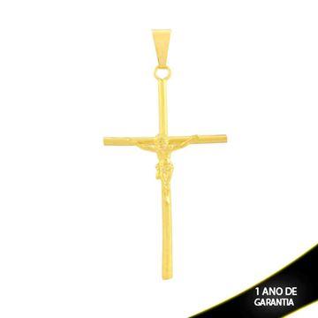 Imagem de Pingente Cruz Grande Liso com Corpo de Cristo - 0302854