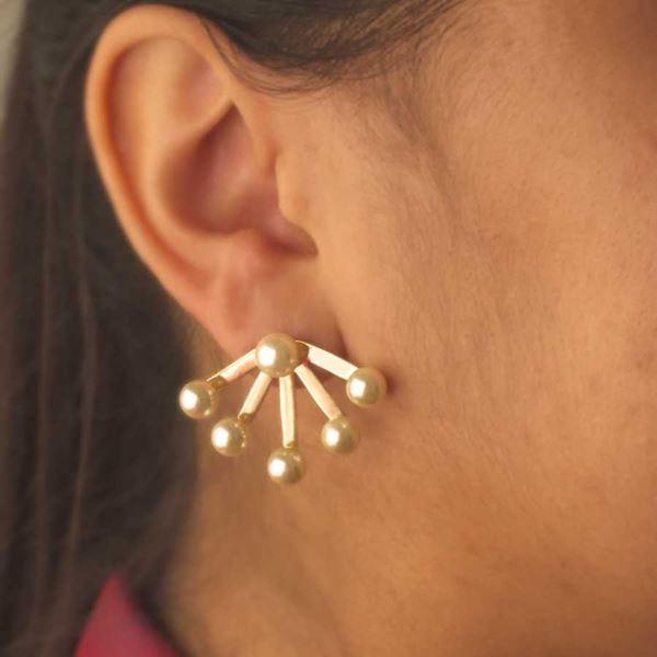 Imagem de Brinco Ear Jacket com Seis Pérolas - 0209280