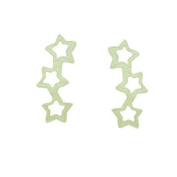 Imagem de Brinco de Prata 925 Ear Cuff com Três Estrelas Vazadas - 0211939