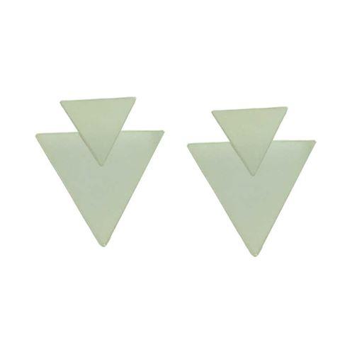 Imagem de Brinco de Prata 925 Dois Triângulos Lisos - 0211974