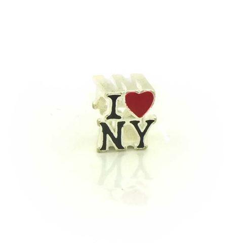 """Imagem de Pingente Berloque Prata 925 Escrito """"I Love NY"""" - 0304545"""