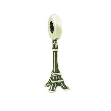 Imagem de Pingente Berloque Prata 925 Torre Eifel Envelhecida - 0304516
