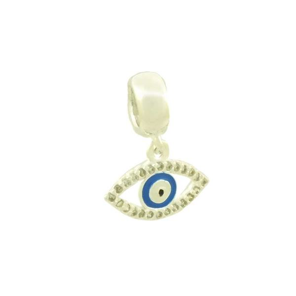 Imagem de Pingente Berloque Prata 925 Olho Grego com Zircônias e Resina - 0304556