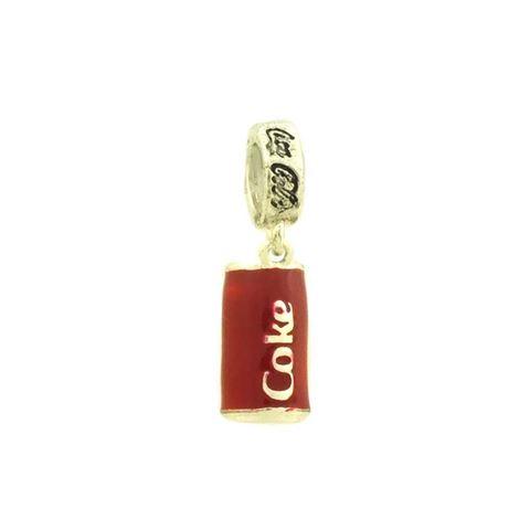 Imagem de Pingente Berloque Prata 925 Lata de Coca-cola com Resina - 0304568