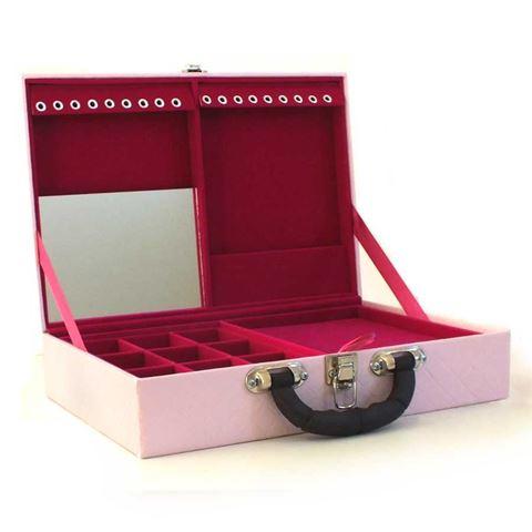 Imagem de Maleta Dupla Grande Rosa para Semi Joias (Pink) - 020142