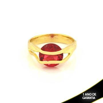 Imagem de Anel com Pedra de Zircônia Vermelha - 0104625