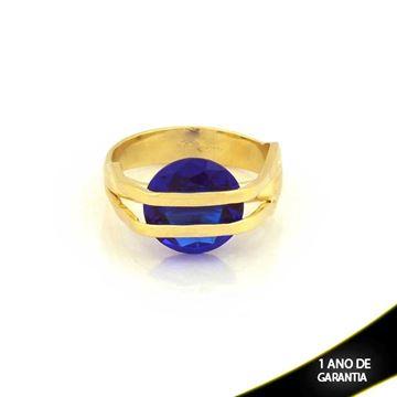 Imagem de Anel com Pedra de Zircônia Azul - 0104625