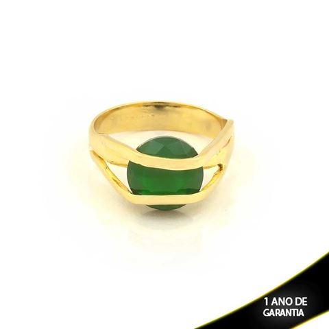 Imagem de Anel com Pedra de Zircônia Verde - 0104625