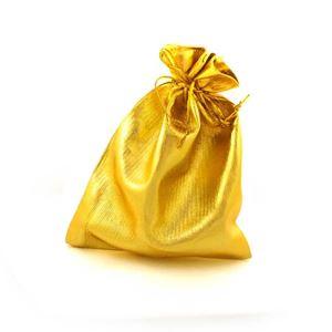 Imagem de Saquinho para presente Lamê 16cm x 12cm Dourado Pct com 10 un - 01010109