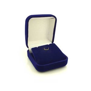 Imagem de Caixinha De Veludo Azul Para Brinco Ou Conjunto - 01010103