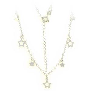Imagem de Corrente Feminina Choker de Prata 925 com Estrelas 36cm Mais 5,5cm de Extensor - 0403614