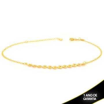 Imagem de Tornozeleira com Corações Diamantados 24cm Mais 4,5cm de Extensor - 0600694