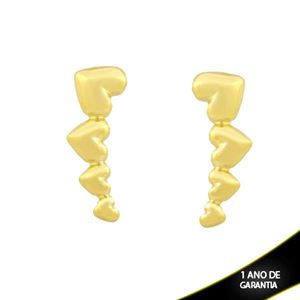 Imagem de Brinco Ear Cuff Corações Lisos - 0212048