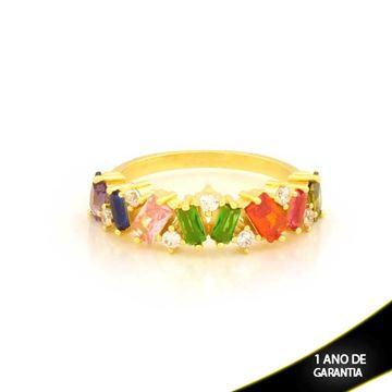 Imagem de Anel com Pedras de Zircônia Coloridas - 0104915