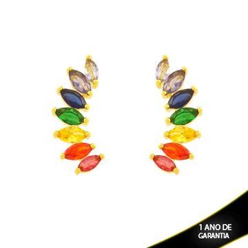 Imagem de Brinco Ear Cuff Pedras de Zircônia Coloridas - 0212196