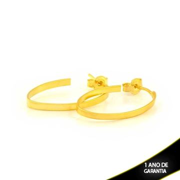 Imagem de Brinco Argola Oval Fina Lisa 2mm 2,5cm - 0211602