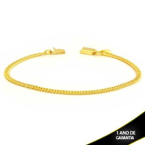 Imagem de Pulseira Masculina Elos Diamantados Fina 3mm 21cm - 0504008