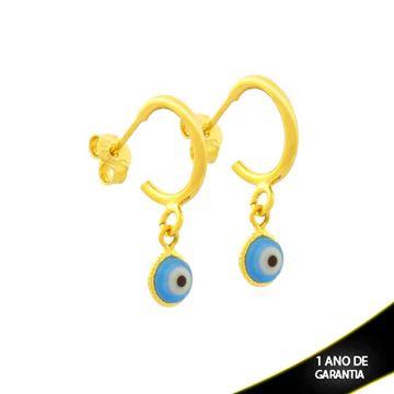 Imagem de Brinco Argola com Olho Grego Azul - 0212062