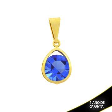 Imagem de Pingente Gota de Zircônia Azul Escuro - 0304577