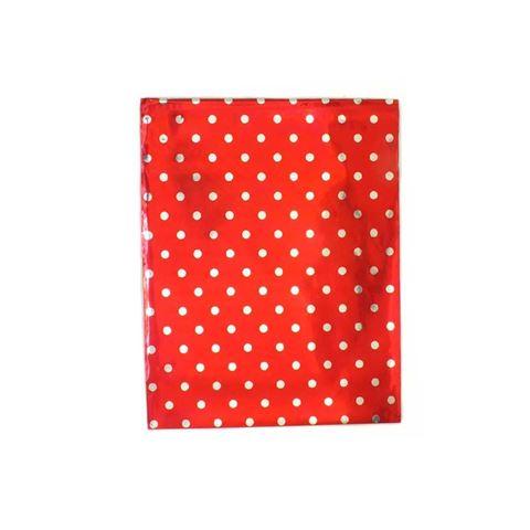 Imagem de Saquinhos para Presente Metalizados Vermelha com Bolinhas Pct 50 Unidades - 02068