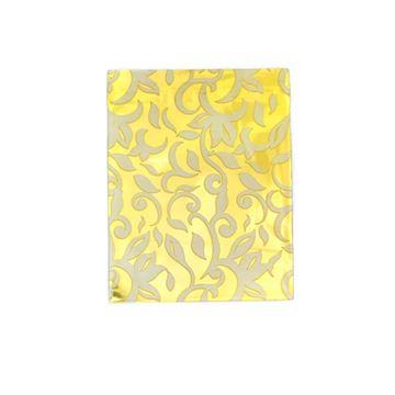 Imagem de Saquinhos para Presente Metalizados Estampa Dourada Pct 50 Unidades - 02068