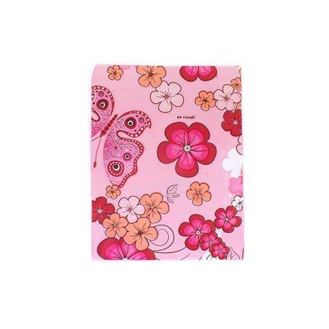 Imagem de Saquinhos para Presente Metalizados Estampa Rosa com Flores Pct 50 Unidades - 02068