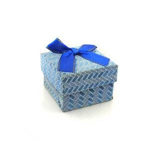 Imagem de Caixinha de Papel para Presente Azul Trançada - 01010110