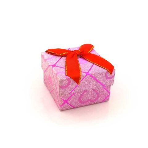 Imagem de Caixinha de Papel para Presente Pink com Corações - 01010110