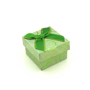 Imagem de Caixinha de Papel para Presente Verde com Círculos - 01010110