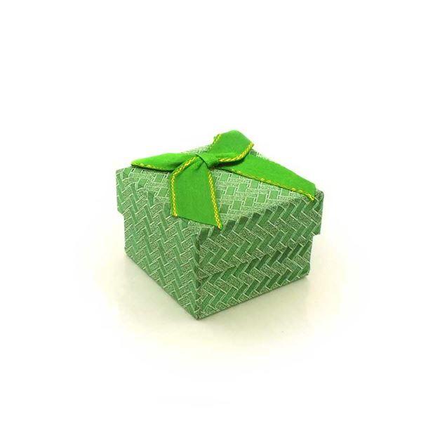 Imagem de Caixinha de Papel para Presente Verde Trançado - 01010110