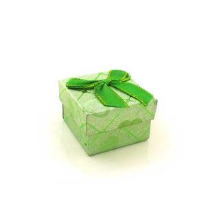 Imagem de Caixinha de Papel para Presente Verde com Corações - 01010110