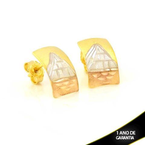 Imagem de Brinco Escravo Diamantado com Aplique de Ródio Rosê - 0211689
