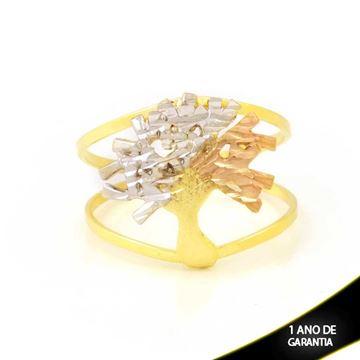 Imagem de Anel com Árvore Diamantada com Aplique de Ródio Rosê - 0104952