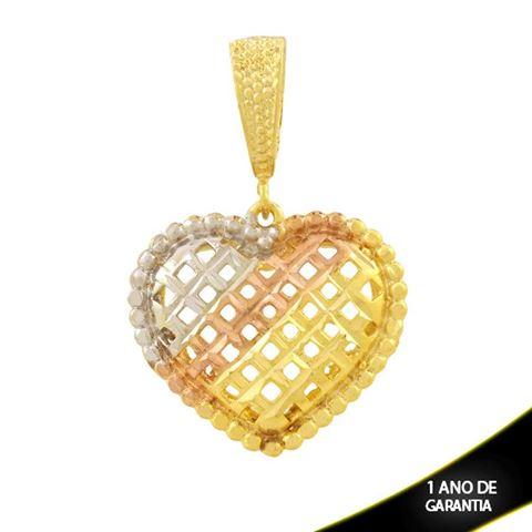 Imagem de Pingente de Coração Diamantado com Aplique de Ródio Rosê - 0304707
