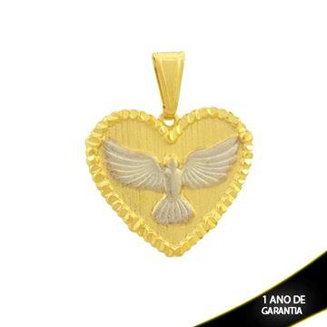 Imagem de Pingente Coração Grande com Espírito Santo em Aplique de Ródio - 0304607