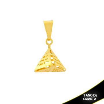 Imagem de Pingente de Pirâmide Vazado Diamantado - 0304590