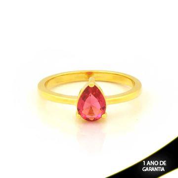 Imagem de Anel com Gota de Pedra Pink - 0104935