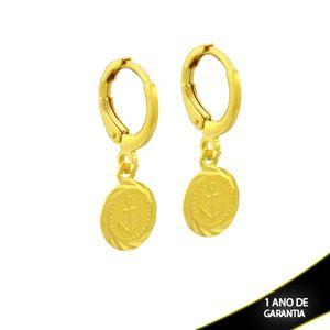 Imagem de Brinco Argola Medalha de Âncora - 0212286