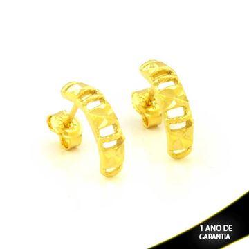Imagem de Brinco de Arco Vazado e Diamantado - 0211676