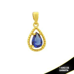 Imagem de Pingente Trabalhado Gota de Pedra Azul Escuro - 0304689