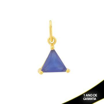 Imagem de Pingente Triângulo de Pedra Azul Escuro - 0304690