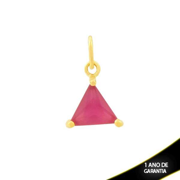 Imagem de Pingente Triângulo de Pedra Pink - 0304690