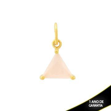 Imagem de Pingente Triângulo de Pedra Rosa - 0304690