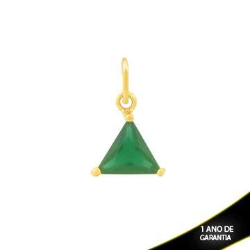 Imagem de Pingente Triângulo de Pedra Verde Escuro - 0304690