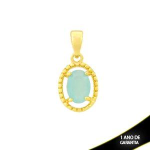 Imagem de Pingente Trabalhado Oval de Pedra Azul Claro - 0304688