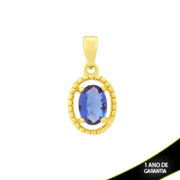 Imagem de Pingente Trabalhado Oval de Pedra Azul Escuro - 0304688